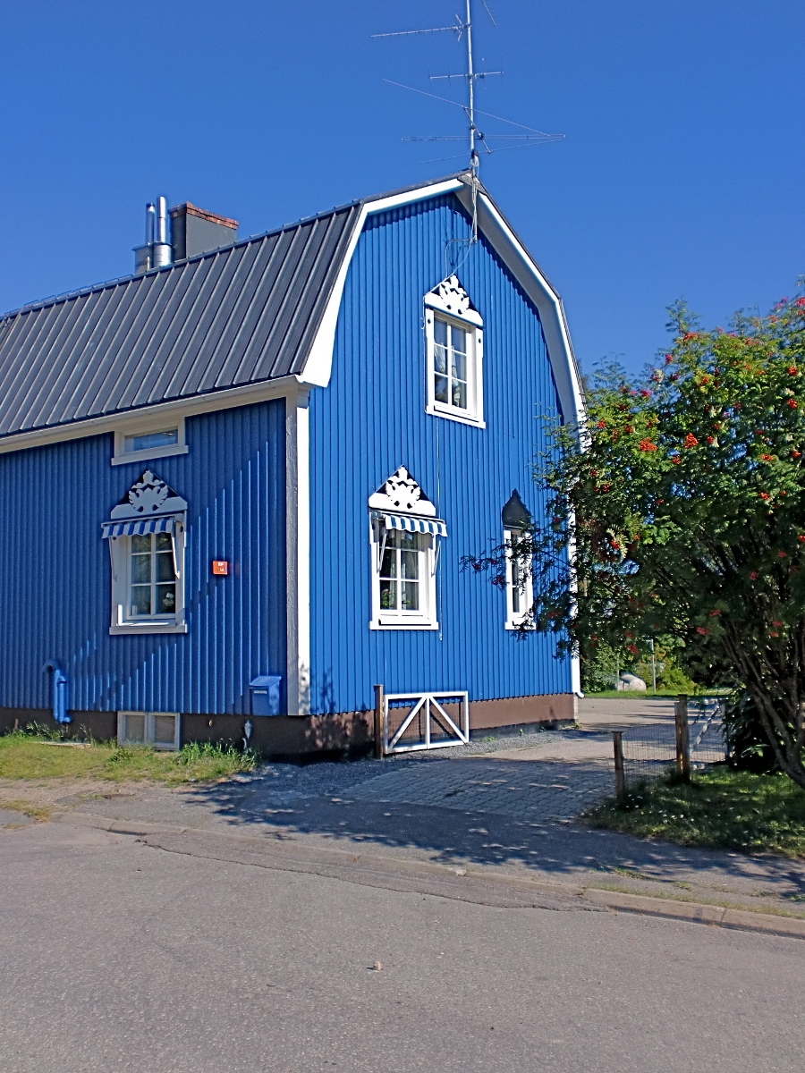 Houten huis verven moose f rg zweedse houtverf zeer kosteneffectief - Binnen houten huis ...