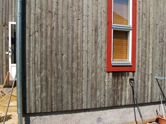 Houtvergrijzing - Zilverpatina met Zweeds rood