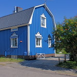 Fassadenfarbe-Sommerblau