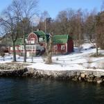 Schwedische Holzfarbe