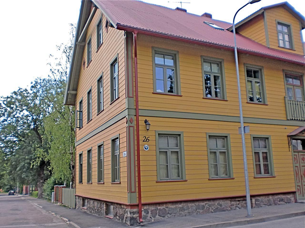 Kleuren oker en groen in Pärnu Estland
