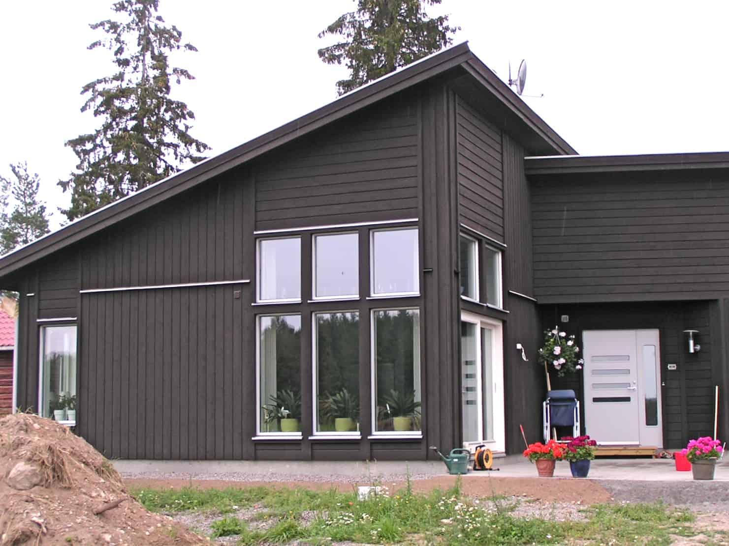 Houten huis verven moose f rg zweedse houtverf zeer kosteneffectief for Hout huis