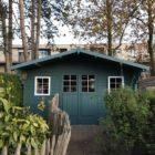 Tuinhuisje verven in Bohus bla Zweeds blauw