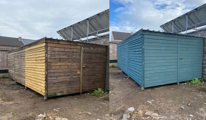 Zweeds blauw in Dilsen-Stokkem voor en na foto's