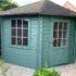 tuinhuis blauw verven
